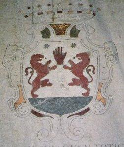 Escudo de los Ó Neill en la iglesia de S. Pietro in Montorio donde se encuentran las tumbas de los Condes